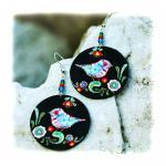 Birds Earrings Folk primiti..