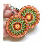 rosette Earrings Mandala Ro..