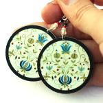 Polish folk Earrings Floral..